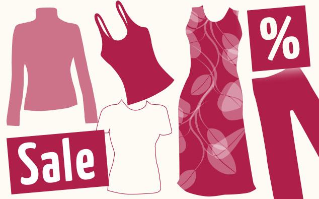 Ausverkauf Kleidung