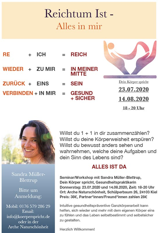 Workshop mit Sandra Müller