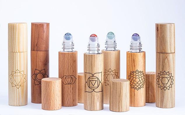 Chakrenroller aus Holz